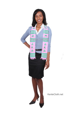 woman wearing kente stole