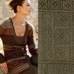 Bògòlanfini fabric or Mud Cloth
