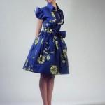 african wax print dress blue